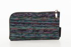 BASIC PURSE WITH ZIP Black with stripes