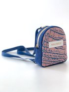 BABY DORA backpack - mauve w. royal blue