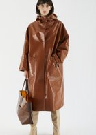IMOGENE hooded rain coat caramel
