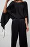 double pleated ankle pants - black