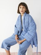 ARIZONA quilted wrap coat blue