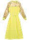 LILLE dress - Neon yelow / gold