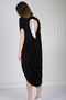 ALNUNGA DOUBLE LAYER VISCOSE DRESS - BLACK/WHITE