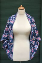 Yoga Cardigan SD5024SF - Small flowered/grey