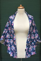 Yoga Cardigan SD5029SF - Small flowered/grey patterned