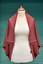 Yoga Cardigan SD5006OGS - orange-grey striped/orange