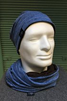 Men Beanies & Scarves SD7009DTK-Blue Tabby Knitted/brown