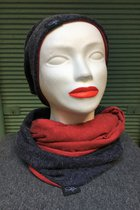 Women Beanies & Scarves SD6007SB - Shagged blue/red