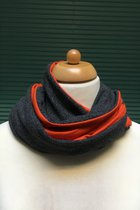 Women Loop Scarf SD4156GGO - Gray and green /orange