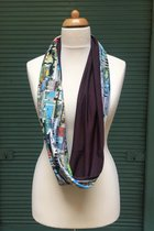 Budapest by sulyandesign loop scarf SD2233BP - Budapest/dark lilac