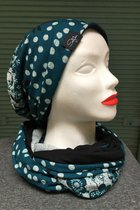 Women Beanies & Scarves SD6009DFK - Dotted-flowered knitted/black