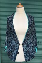Cardigan SD10004AW - angel wings/turquoise-blue