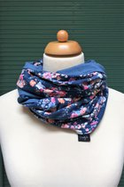 Women Loop Scarf SD4115SM - small flowered/blue