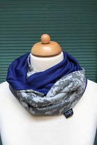 Women Loop Scarf SD4115GG - grey glistening/blue