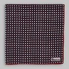 Petronius 1926 - Checked pattern pocket square red/blue/cream