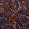 Petronius 1926 -Paisley motif wool silk scarf - orange/blue
