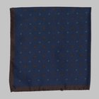 Fiorio - Floral pocket square blue