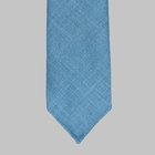 Drake's - Tussah silk tie light blue