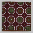 Petronius 1926 - Flower motif pocket square red/green/brown