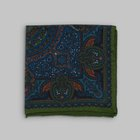 Petronius 1926 - Mandala motif pocket square green/blue/orange