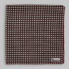 Petronius 1926 - Checked pattern pocket square red/green/cream
