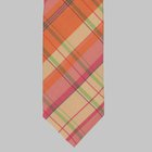 Drake's - Silk Popeline Tartan Tie orange