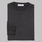 Gran Sasso - Regular fit Merino wool roundneck sweater charcoal