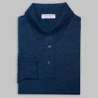 Gran Sasso - Wool/silk tennis sweater dusty blue