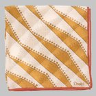 Drake's - Geometric Stripe Pocket Square ochre