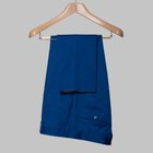 Gabardine cotton trousers bright blue