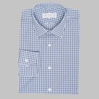Simon Skottowe - Triple blue check poplin shirt