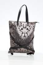 FLAT B BACKPACK Baroque patterned leather backpack