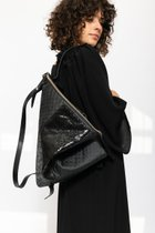 DELTA BACKPACK Black dotted/black baroque leather