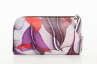BASIC PURSE WITH ZIP Lila sinus printed