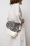MINI BAG WITH FUR COVER - White with dotted fur cover