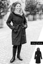 GERTRUD winter coat black-gray