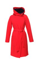 GERTRUD winter coat cherry red - dark blue