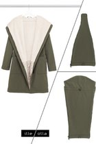 GERTRUD bundle for Mothers (coat+maternity panel+baby panel) khaki-beige
