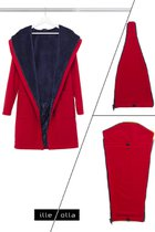 GERTRUD bundle for Mothers (coat+maternity panel+baby panel) cherry red - dark blue
