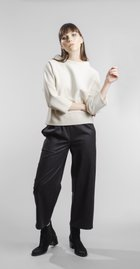 trousers with elastic band black